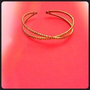 A rose gold bracelet